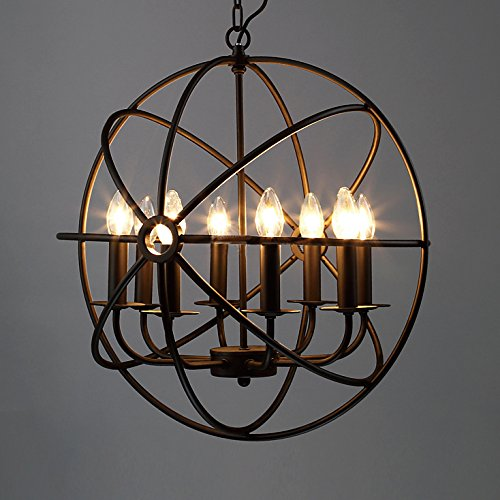 Beautiful rustic farmhouse decor Edison chandelier