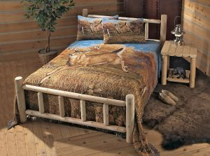 Nice th Rustic Natural Cedar Furniture Queen Slat Bed