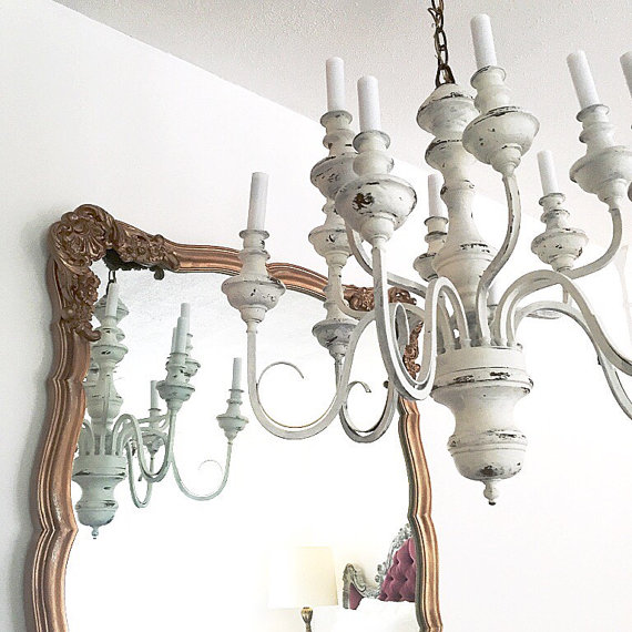 Ideal rustic shabby chic decor rustic shabby chic chandelier