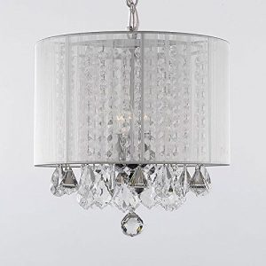 Fancy th Gallery Crystal Chandelier with large white shade