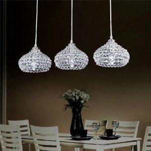 Cute th DINGGU Chrome Finish Modern Lights Crystal Chandelier Pendant Lighting