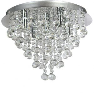 Stunning th Ella Fashion European Art Crystal Rain Drop Flush Mount Ceiling Chandelier Fixtures with Lights