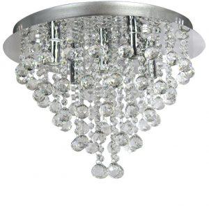 Trend th Ella Fashion European Art Crystal Rain Drop Flush Mount Ceiling Chandelier Fixtures with Lights
