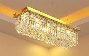 Fabulous th Siljoy Rectangular Crystal Chandelier Lighting Modern Pendant Lights