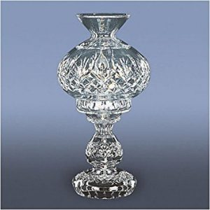 4th, Waterford Crystal Fiona 13 Inch Hurricane Table Lamp