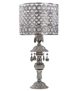 Fancy st River of Goods chrome and crystal table lamp