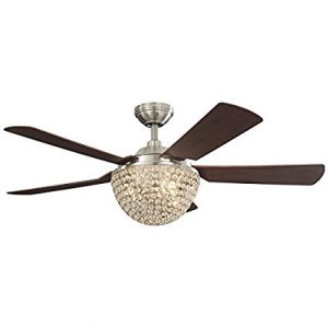 Crystal ceiling fans lights a guide to the best of 2017 1st harbor breeze parklake 52 brushed nickel downrod mount indoor ceiling fan with light kit and remote sciox Images