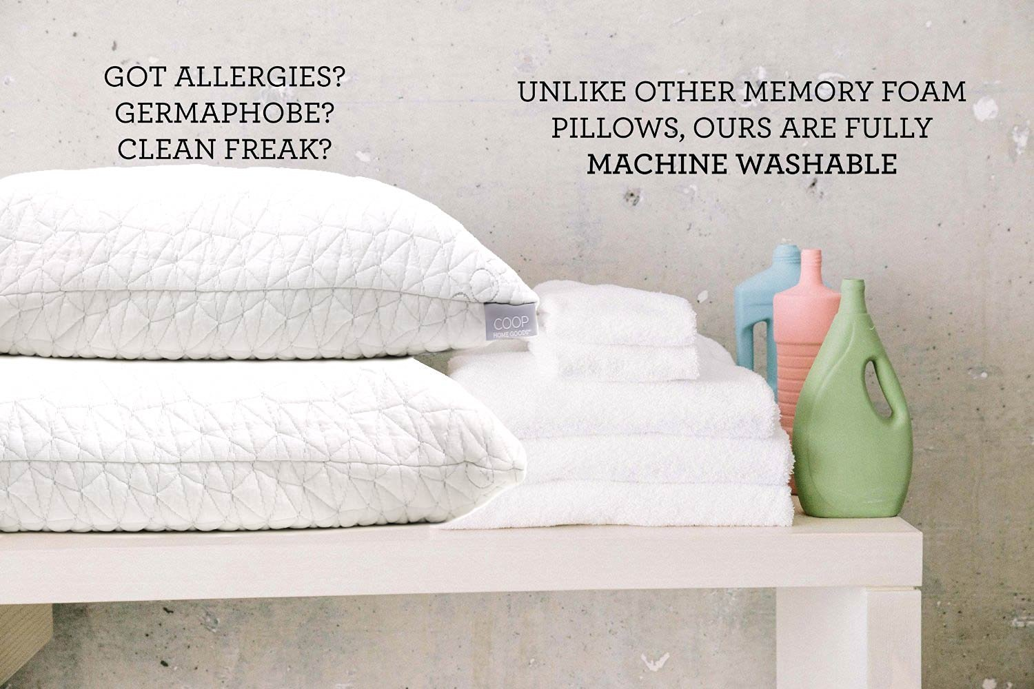 coop home goods shredded memory foam bamboo pillow review. Black Bedroom Furniture Sets. Home Design Ideas