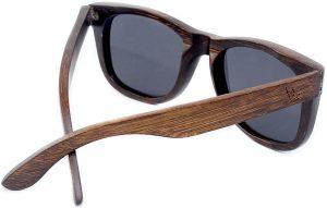 Maka Wear coronado wayfarer style polarized bamboo sunglasses