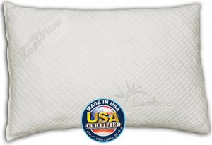 Snuggle-Pedic Ultra-Luxury Bamboo shredded memory foam pillow combination - bamboo pillow
