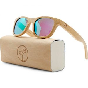 Tree People polarized wayfarer bamboo sunglasses