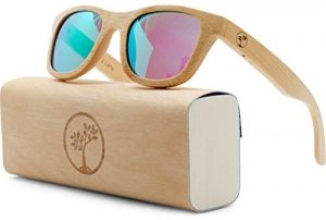 Tree People polarized wayfarer bamboo sunglasses