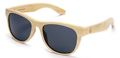 Tree Tribe Polarized Laminated Bamboo Wayfarer Sunglasses - bamboo sunglasses