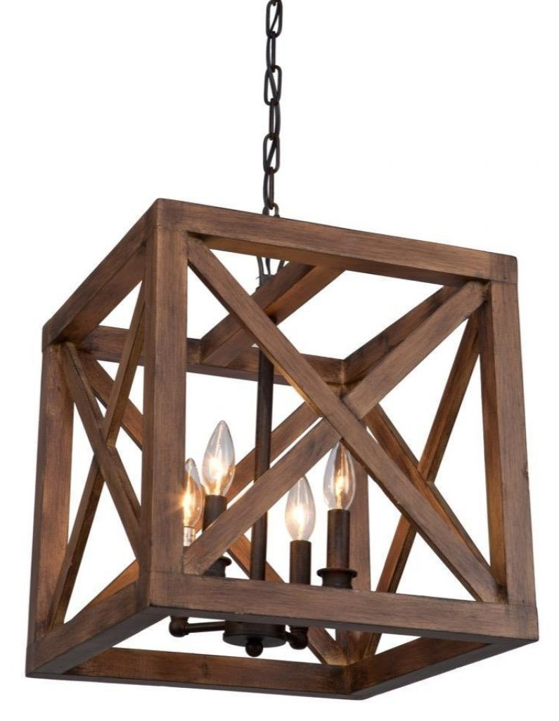 rustic wood chandelier