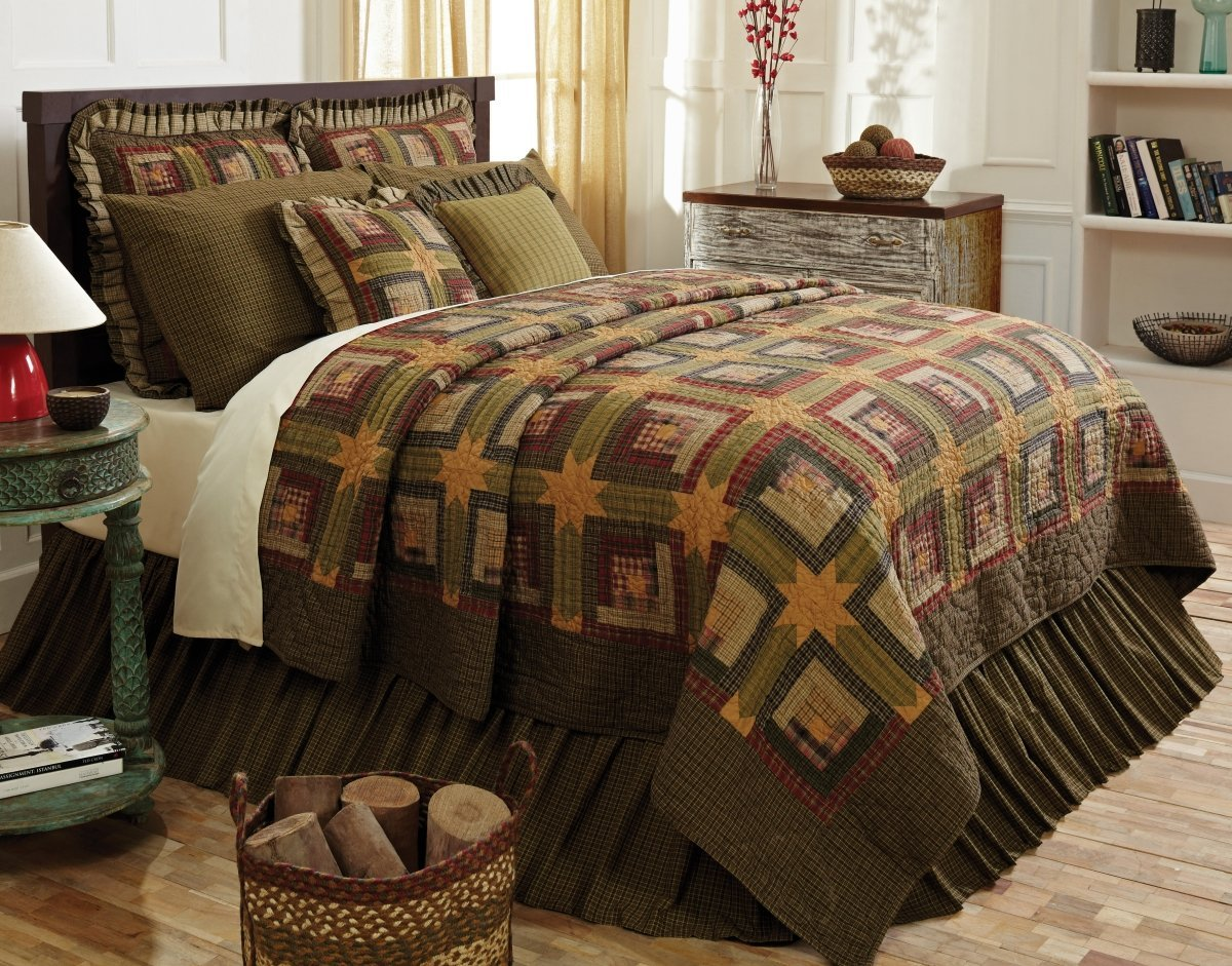 bb red the checked bedroom rustic cabin in decor vintage cabins bedding attachment themed inviting