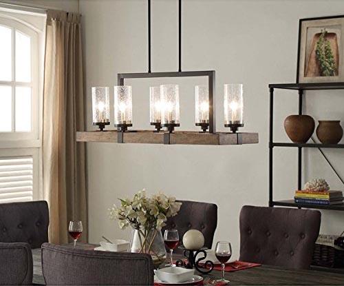 rustic wood chandelier