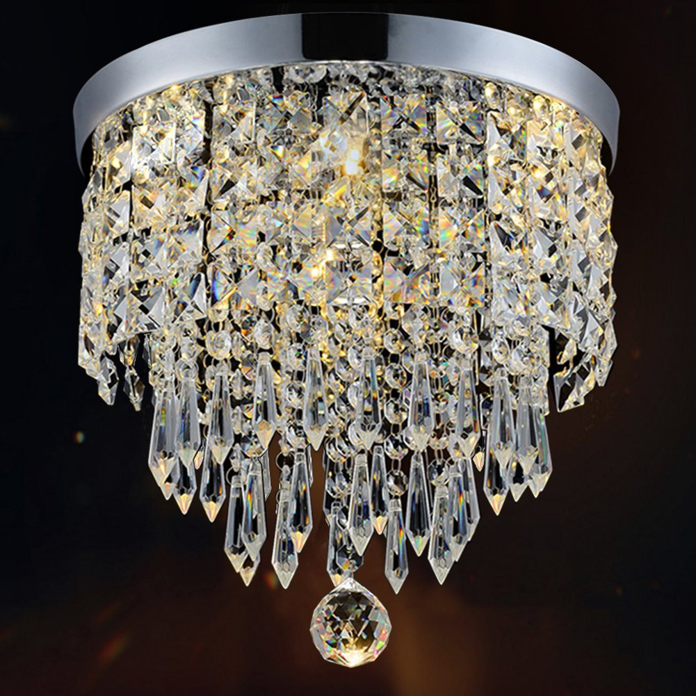 Modern contemporary crystal chandeliers a guide to the best of 2018 hile lighting pendant ceiling chandelier aloadofball Image collections