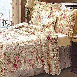 Vintage Old Feel Flower Bed Cover