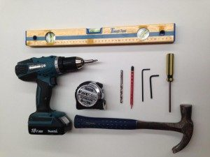 Tools for shelves Installation
