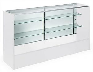 Custom cut glass shelves
