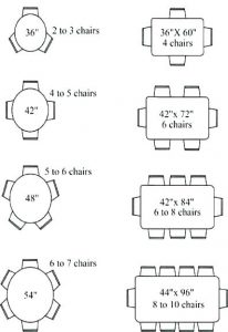 Patio glass table top Dimensions